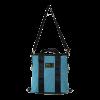 borsa in cinture di sicurezza e similpelle blu con tracolla
