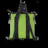 borsa in cinture di sicurezza e similpelle verde vista da dietro
