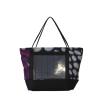 Borsa shopper in tessuto floreale con pannello solare