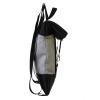 zaino in similpelle beige e cinture di sicurezza con pannello solare