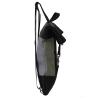 zaino in similpelle tortora e cinture di sicurezza con pannello solare