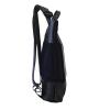 zaino in tessuto blu e cinture di sicurezza con pannello solare