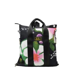 Borsa/zaino tela cotone fiori