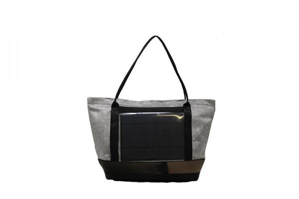 Solar shopping grigio fantasia floreale vista frontalmente