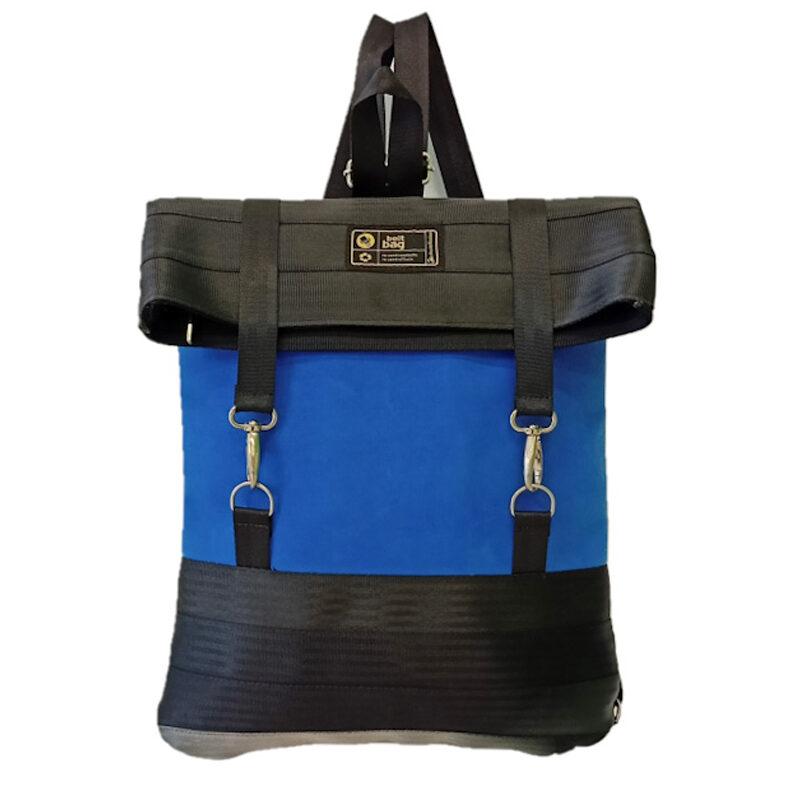 ZAINO TRENDY TEXT similpelle scamosciata colore azzurro e cinture nere front_edited