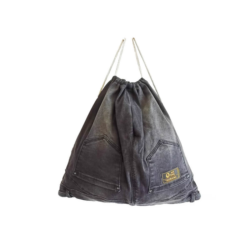 ASABI JEANS NERO SBIADITO FRONT
